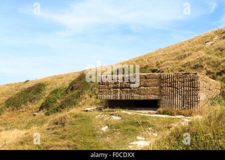 WW2 pillbox at Cuckmere Haven, East Sussex, England, UK - Stock Photo