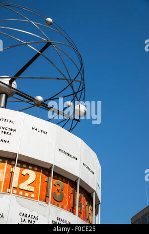 The Weltzeituhr, World time Clock in Berlin, Germany - Stock Photo