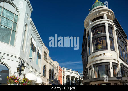 VIA RODEO SHOPPING MALL RODEO DRIVE BEVERLY HILLS LOS ANGELES CALIFORNIA USA - Stock Photo
