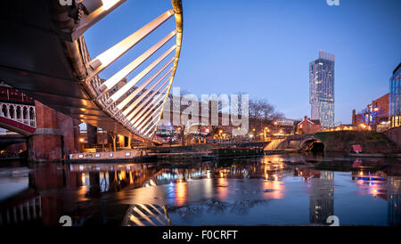 Castlefield is an inner city conservation area of Manchester in North West England. - Stock Photo