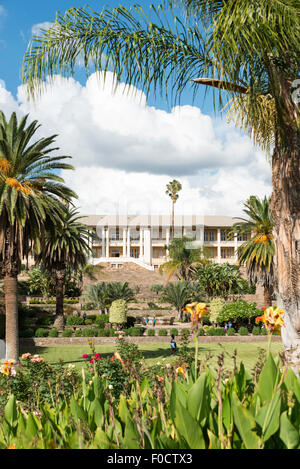 Parliament Building, Parliament Gardens, Robert Magabe Avenue, Windhoek (Windhuk), Khomas Region, Republic of Namibia - Stock Photo