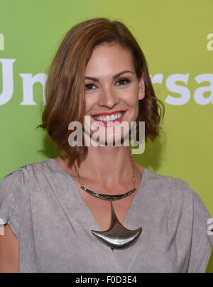 Beverly Hills, California, USA. 12th Aug, 2015. Daisy Betts arrives for the Summer 2015 TCA - NBCUniversal at the - Stock Photo