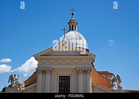 San Rocco, church, Largo San Rocco Square, Rome, Lazio, Italy - Stock Photo