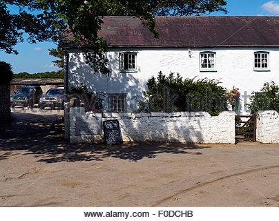 Ogmore farm tea rooms on the heritage coast in south wales uk - Stock Photo