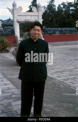 people, ethonology, men, China, man wearing Mao suit, Temple of Heaven, Beijing, October 1965, Additional-Rights - Stock Photo