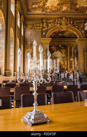 London Southbank Greenwich University Painted Hall built Sir Christopher Wren & Nicholas Hawksmoor paintings Sir - Stock Photo
