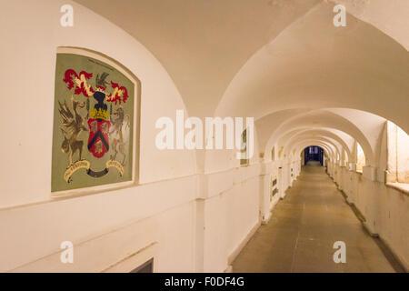 London Southbank University of Greenwich underground Ripley Tunnel / Chalk Walk corridor linking the Chapel & Painted - Stock Photo