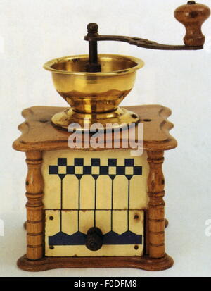 household, kitchen and kitchenware, coffee grinder, 18th century, 18th century, household, households, domestic - Stock Photo