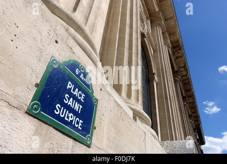 Place Saint Sulpice, central Paris, France - Stock Photo