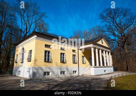 Rumford-Saal (1791), building in Palladian style, Englischer Garten, park, central Munich, Bavaria, Germany - Stock Photo