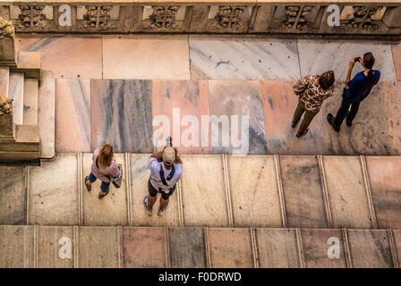 Tourists on the roof of Milan Cathedral - Stock Photo