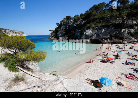 Cala Macarelleta, near Cala Galdana, South West Coast, Menorca, Balearic Islands, Spain, Europe - Stock Photo