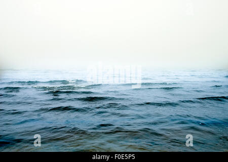 Cold water and the invisible horizon - Stock Photo