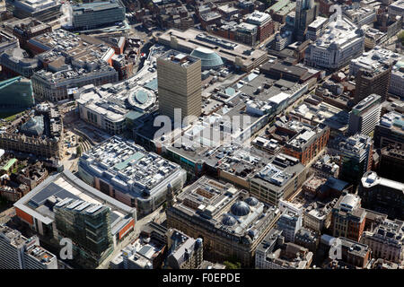 aerial view of Manchester Arndale Shopping Centre, UK - Stock Photo