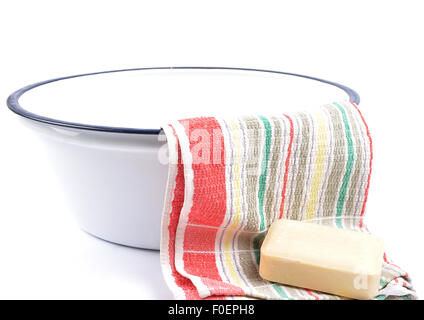 Washing utensils - Stock Photo