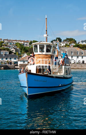 Falmouth to St Mawes Ferry 'Duchess of Cornwall' arriving at St Mawes - Stock Photo
