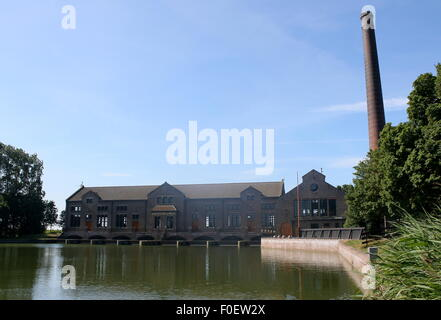 DF Woudagemaal,  largest operational steam-powered pumping station in the world at Lemmer, Netherlands, UNESCO World - Stock Photo