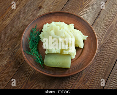 Aligot (mashed potato with cheese, from Auvergne Stock ...