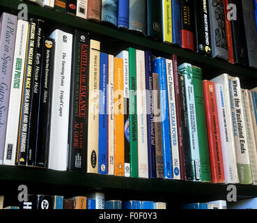A selection of books mostly on environmental issues and related subjects. - Stock Photo