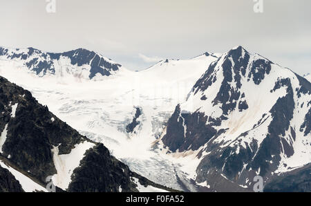 Overlord Glacier,  seen from near the Horstman Hut on Blackcomb Mountain, Whistler, BC, Canada - Stock Photo