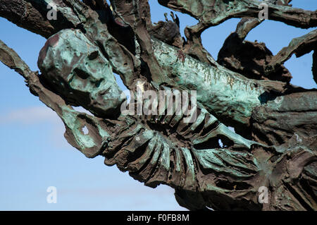 Murrisk, Co. Mayo, Ireland. August 27, 2004. National Famine Memorial, designed by Irish artist John Behan, which - Stock Photo
