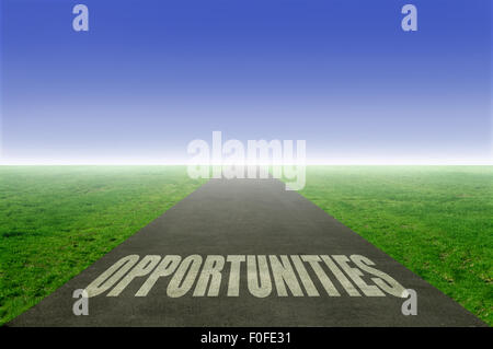 Road of opportunities - Stock Photo