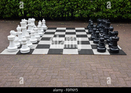 Giant outdoor Chess Board - Stock Photo