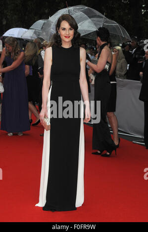 London,UK,11 August 2015,Michelle Dockery attends BAFTA tribute special award ceremony for ITV's Downton Abbey at - Stock Photo