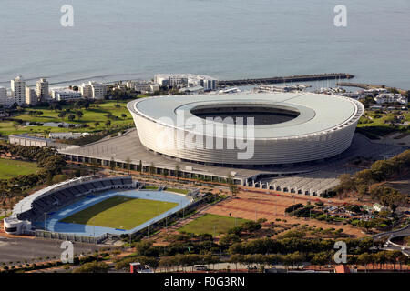 Cape Town Stadium on the waterfront in Sea Point, built for the  2010 FIFA World Cup and home to Ajax Cape Town - Stock Photo