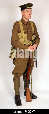 A Great War uniform as worn by British royal navy sailors fighting in the trenches as infantry 1914-1918. - Stock Photo