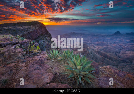 Big Bend National Park in Texas is the largest protected area of Chihuahuan Desert the United States. - Stock Photo