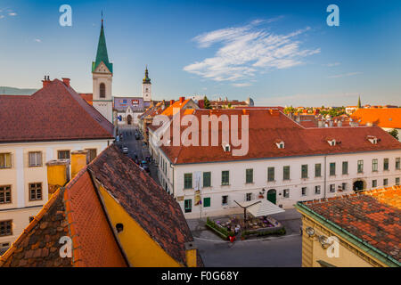 Zagreb is a vibrant city of around 800,000 people, that boasts a charming medieval 'old city'. - Stock Photo