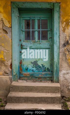 Old door in Zagreb, Croatia - Stock Photo