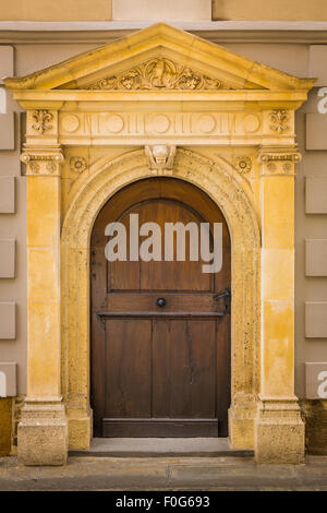 Door on the Cathedral in Zagreb, Croatia - Stock Photo