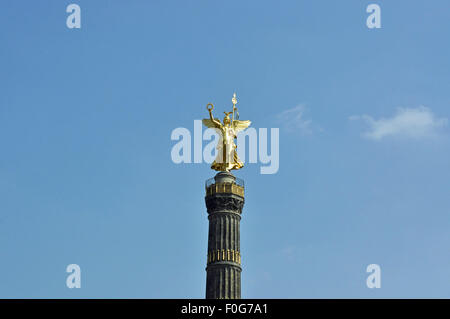Column of victory, Siegessäule, Goldelse, Berlin, Germany, famous tourist attraction, City of Berlin - Stock Photo