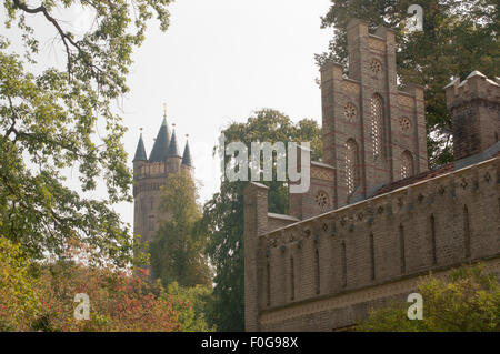 Matrosenhaus im Potsdamer  Park des Babelsberger Schlosses, Backsteingotik - Stock Photo