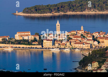 View of the town of Rab, Croatian tourist resort on the homonymous island. - Stock Photo