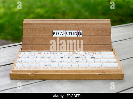 a letterbox with the german word: 'Pisa-Studie' (pisa-study) - Stock Photo