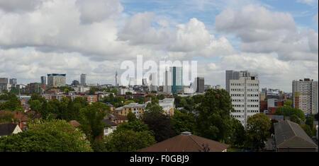 The skyline of Birmingham city centre UK - Stock Photo