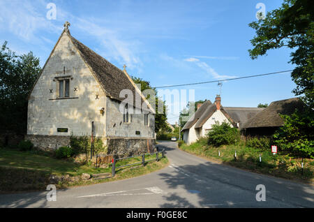 The building which served as the inspiration for the village school in the novel  Tom Brown's School Days, Uffington, - Stock Photo