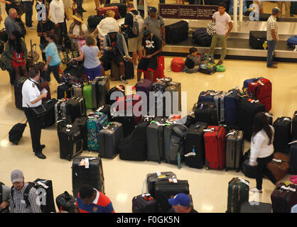 Washington, DC, USA. 15th Aug, 2015. Amount of baggages assemble at Ronald Regan National Washington Airport in - Stock Photo