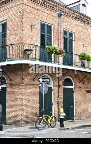 New Orleans architecture, French Quarters, Louisiana - Stock Photo