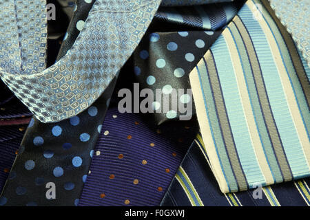 Assortment of Mens Neck Ties - Stock Photo