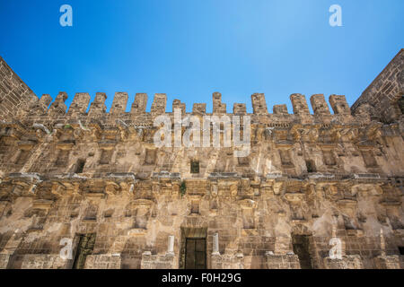 amphitheater in Aspendos, Antalya, Turkey - Stock Photo