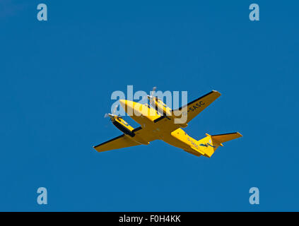 Scottish ambulance service Gamma Av.iation Ratheron B200C King Air (G-SASC)  SCO 10,022. - Stock Photo
