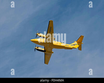 Scottish ambulance service Gamma Av.iation Ratheron B200C King Air (G-SASC).  SCO 10,023 - Stock Photo