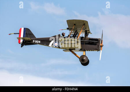 RAF SE5a World War One fighter bi plane - Stock Photo
