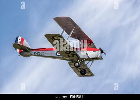 De Havilland DH82 Tiger Moth WW2 bi-plane trainer - Stock Photo