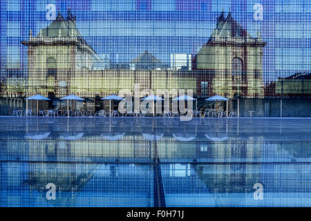 The extension to the Palais des Beaux-Arts. Lille. France - Stock Photo