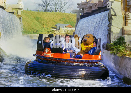 Congo River Rapids water ride. Alton Towers Resort. Staffordshire. UK - Stock Photo